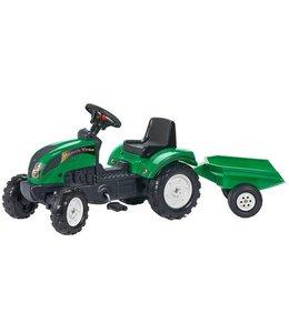 Falk Falk Tractor met Aanhanger - Ranch Trac Groen