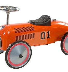 Retro Roller Loopauto Formule 1 Charley Oranje