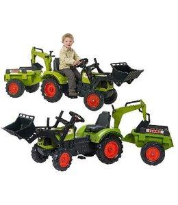 Falk Falk Claas Arion 430 Tractor + Aanhanger + Voorlader + Graafarm