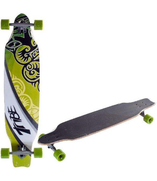 Basic Longboard Skateboard Tribe Green 100cm