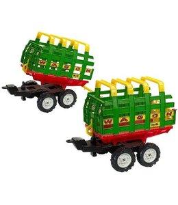 Falk Falk Maxi Farm Wagon Aanhanger met Dubbele As