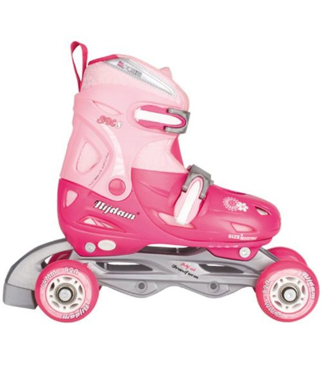 Nijdam Nijdam Junior Inline Verstelbare Quad Skates Roze 30-33
