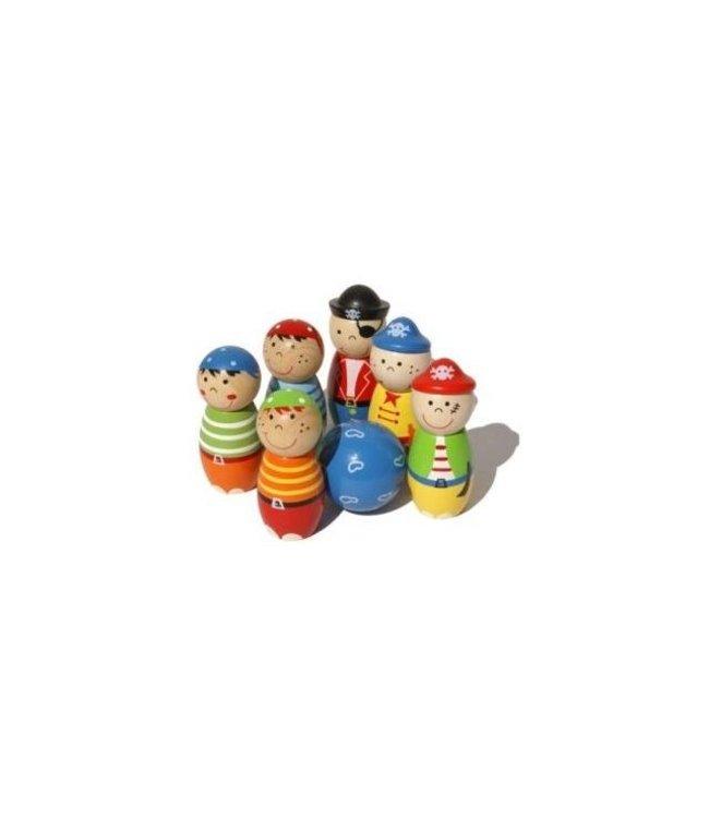 Simply for Kids Simply for Kids 22107 Houten Kegelspel Piraten