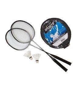 SportX SportX Badminton Set Aluminium met Shuttle
