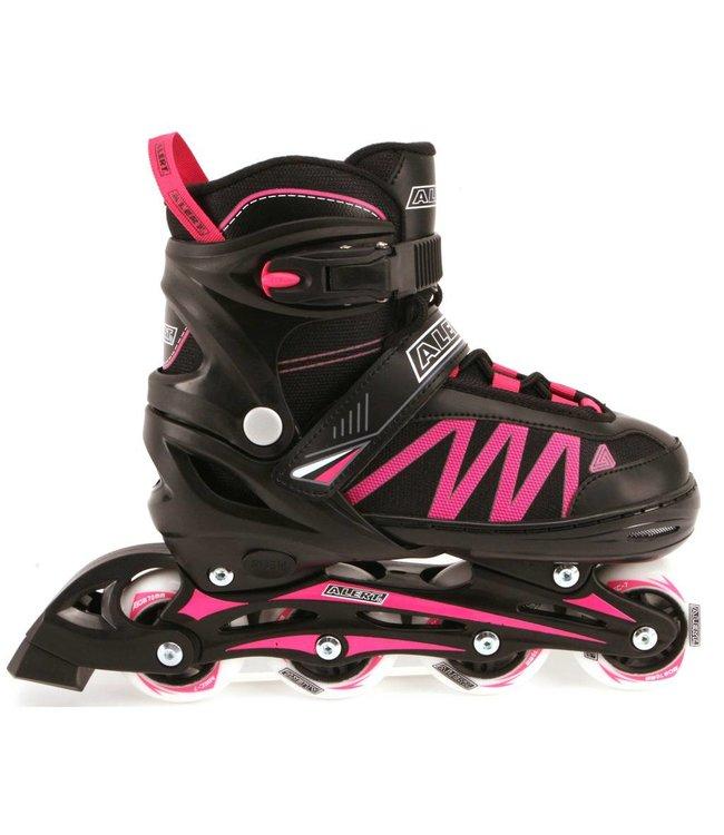 Alert Alert Inline Skate Zwart/Roze Maat 31-34