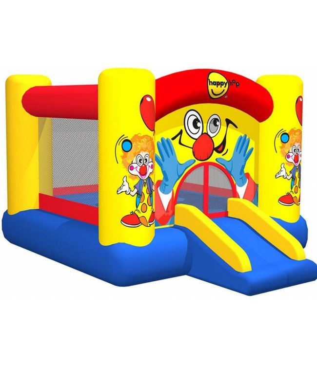 Clown Happytown Clown Slide and Hoop Bouncer Springkasteel met glijbaan en basketbalring