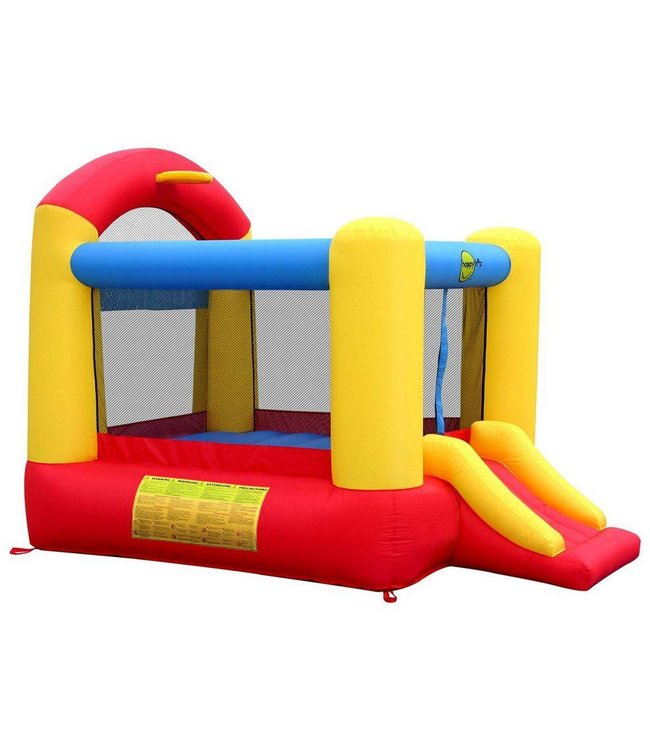 Basic Slide and Hoop Bouncer opblaasbaar Springkasteel met glijbaan en basketbalring