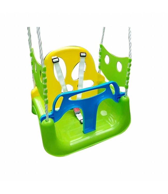Basic Plastic 3 in 1 Schommelstoel met ophangtouwen