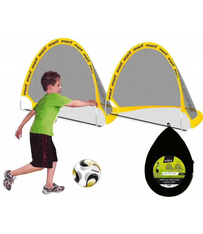 SportX SportX Pop-Up Voetbal Goal Set