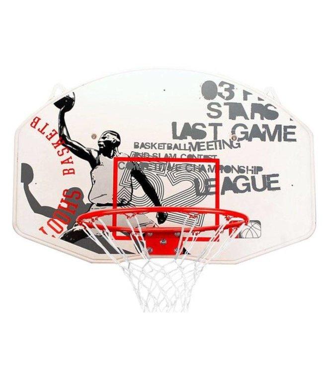 Basic New Port Basketbalring met Bord en Net 42cm