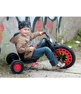 Hauck-Toys Typhoon Driewieler Chopper Zwart/Rood