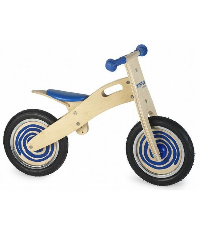 Simply for Kids Simply for Kids Houten Loopfiets Blauw
