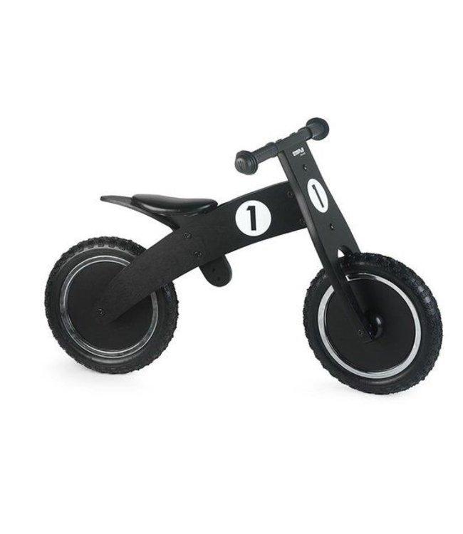 Simply for Kids Simply for Kids Balance Bike Black Houten Loopfiets met Anti-Lek Band