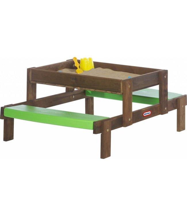 Little Tikes Little Tikes 2in1 Houten Zand / Picknick Tafel
