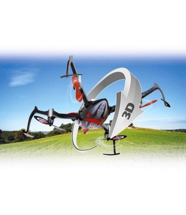 Jamara Jamara RC Skip 3D Drone 4+3 Channel RTF/Gyro Inside + Lights 360 Flip 2.4 Ghz Zwart