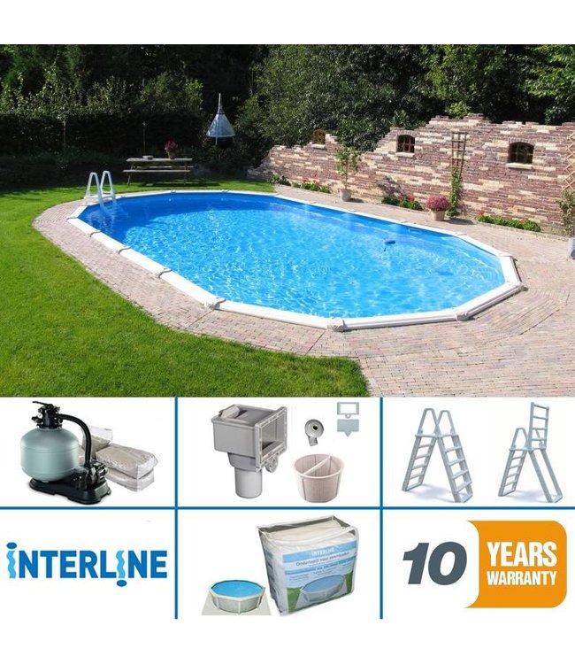 Interline Interline Century Opbouw/Inbouw Zwembad Ovaal 975x490x132 cm