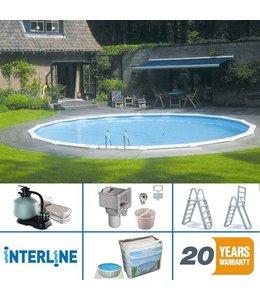 Interline Interline Sunlake Opbouw/Inbouw Zwembad Rond 550cm