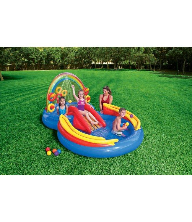 Intex Intex 57453NP Rainbow Ring Play Center  Kinderzwembad 297x193x135cm