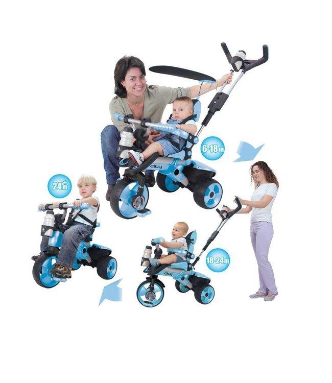 Injusa Injusa City Trike Meegroei Driewieler Blauw
