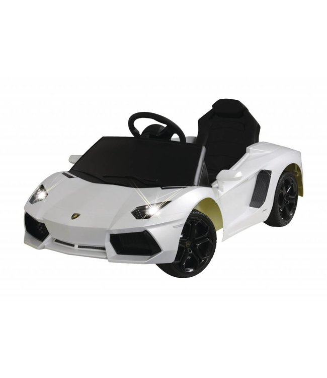 Jamara Jamara JAM-404603 R/c Rideon Car Lamborghini Aventador 2+6 Channel Mechanical Gear-shift / Sound / With Lights 1:4 Wit