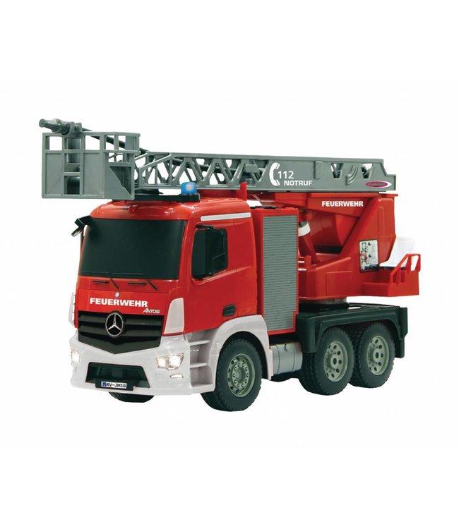 Jamara Jamara JAM-404960 R/c Fire Truck Mercedes Antos 4+6 Channel Rtr / Sound / With Lights / 4-wd 2.4 Ghz Control 1:20 Rood