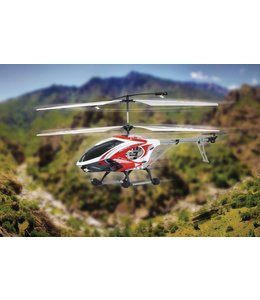 Jamara Jamara RC District 3 HeliKopter 3+2 Channel RTF/Gyro Inside + Lights 2.4 Ghz Rood