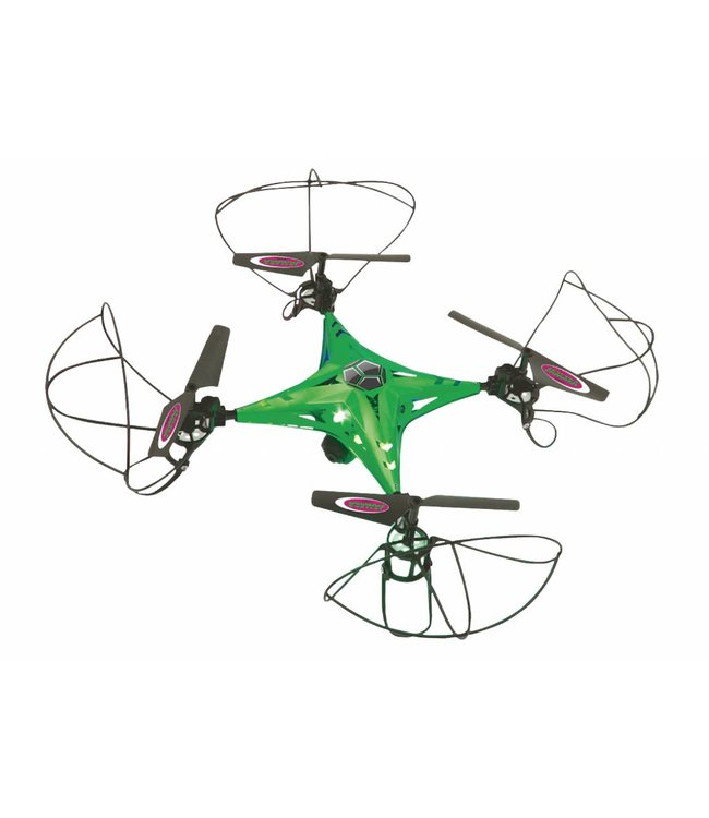 Jamara Jamara JAM-422019 R/c Drone Camalu 4+5 Channel Rtf / Photo / Video / Gyro Inside / With Lights / 360 Flip / Fpv 2.4 Ghz Control Groen