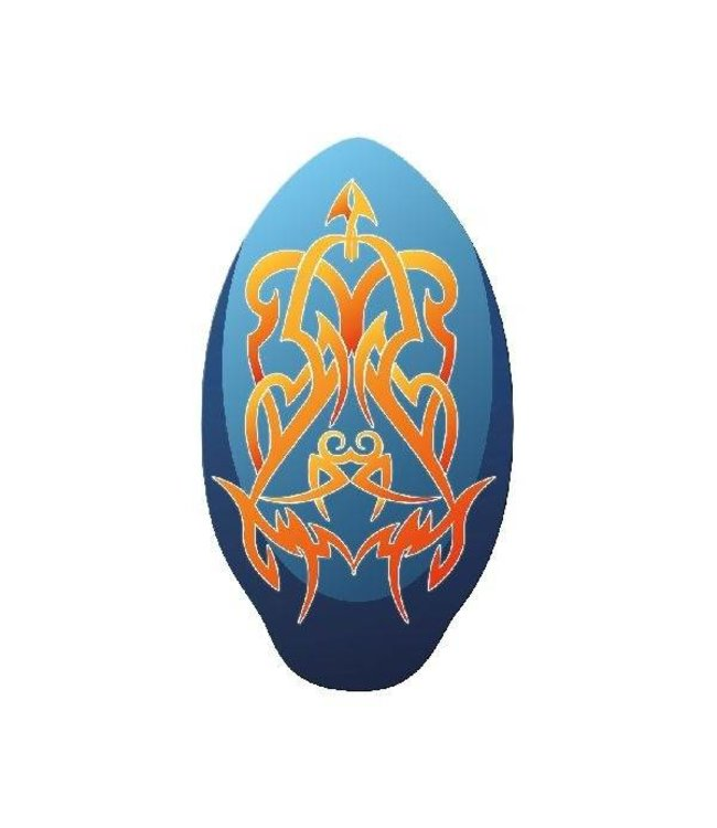 Basic Houten Skimboard Tribal Blauw/Oranje 100cm