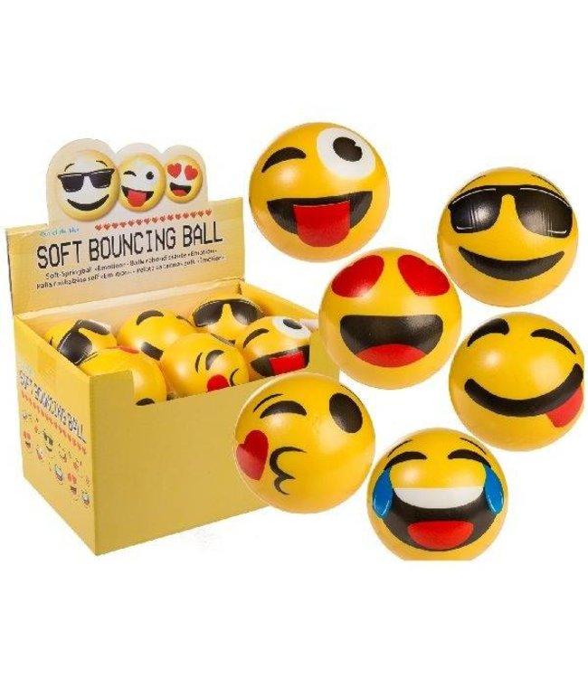 Basic Soft Bouncing Emoji Balls 10cm 12 Stuks 6 Assorti