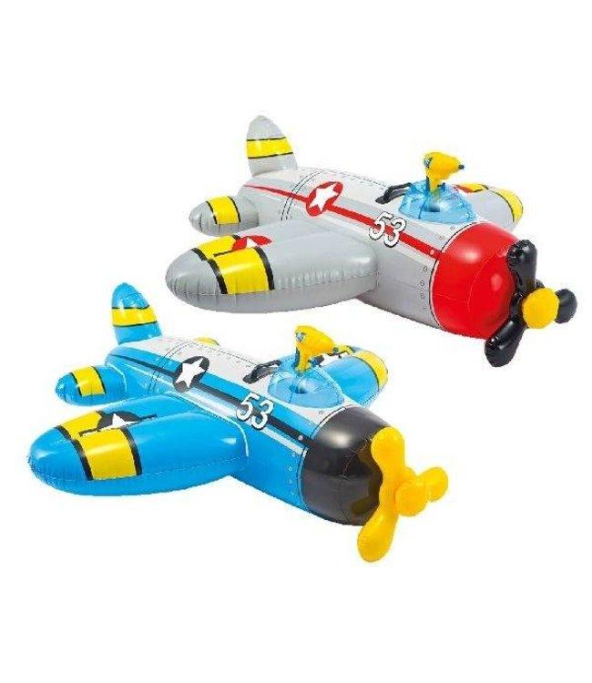Intex Intex Ride-On Vliegtuig + Waterpistool 132x130cm Assorti
