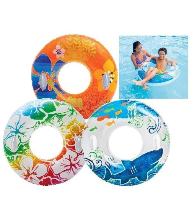 Intex Intex Transparante Tube Zwemband met Handgrepen 97cm Assorti