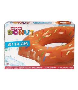 Basic Mega Donut Zwemring Bruin 119cm