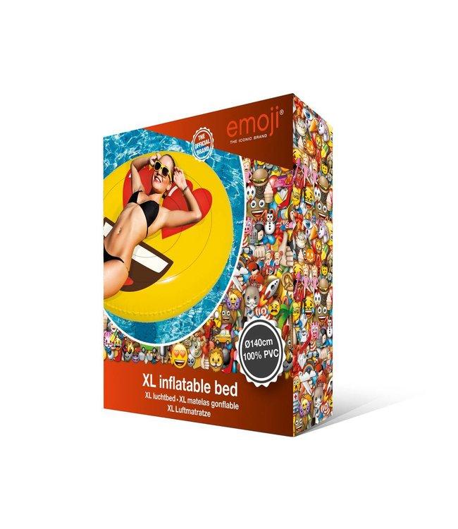 Basic Opblaasbaar Figuur Emoji Face Hearts 140cm