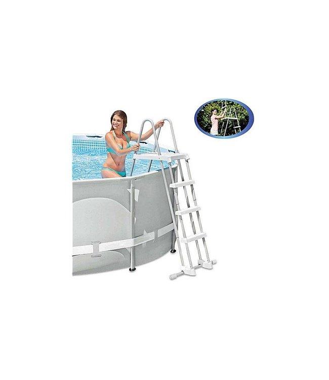 Intex Intex 28073 Zwembadtrap voor 122cm met Verwijderbare Treden