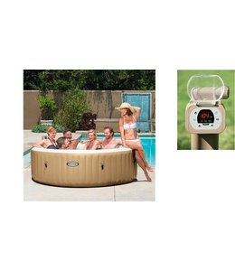 Intex Intex 28408 PureSpa Bubble Therapy Jacuzzi 6-Persoons Set 216/165x71cm