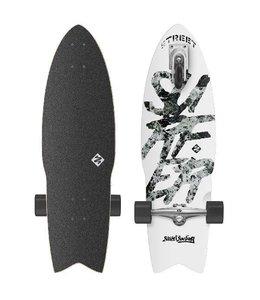 "Street Surfing Street Surfing Shark Attack 30"" Zelfrijdend Longboard Great White"