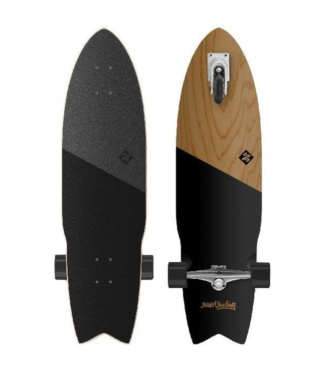 """Street Surfing Street Surfing Shark Attack 36"""" Zelfrijdend Longboard Koa Black"""