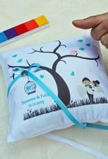 Nadelspitze Ringkissen Wedding Tree