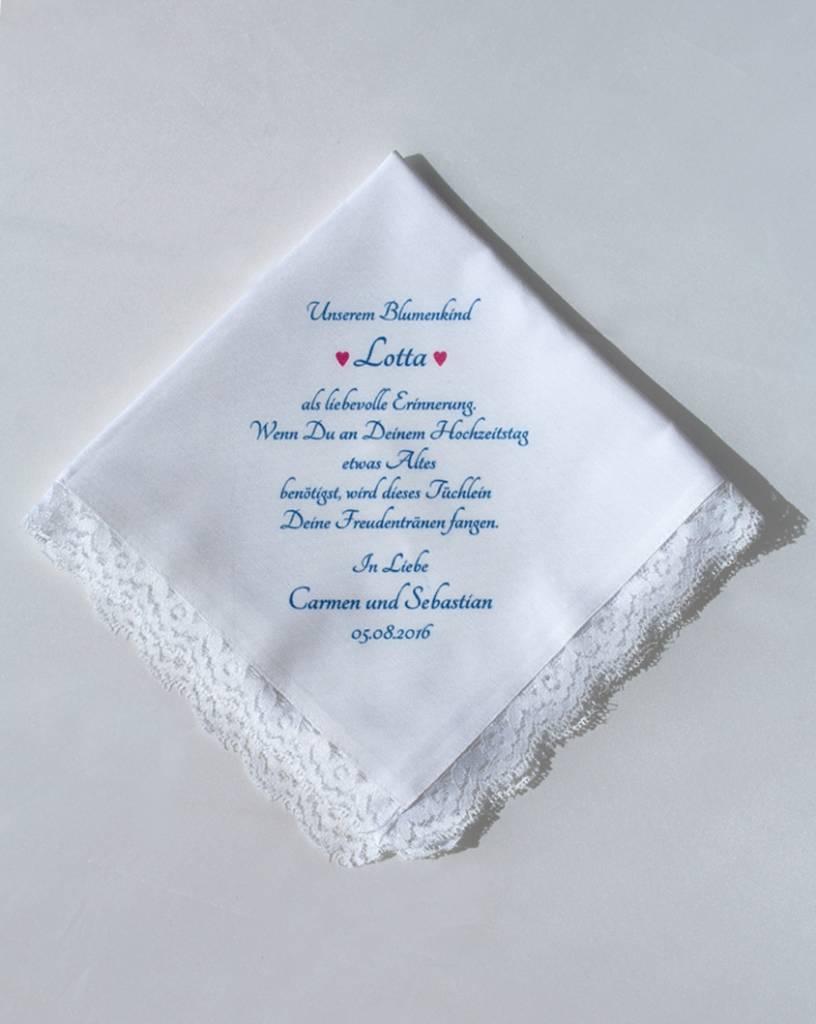Persönliches Taschentuch für die Freudentränen - Nadelspitze