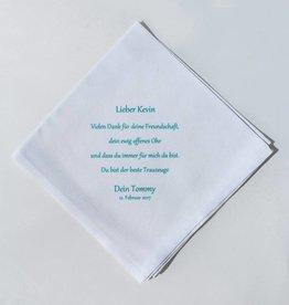 Nadelspitze Taschentuch für den Trauzeugen - Danke
