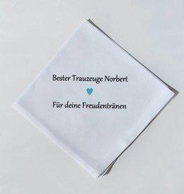 Nadelspitze Taschentuch für den Trauzeugen - Freudentränen