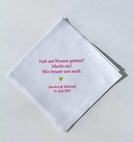 Nadelspitze Taschentuch - Nah am Wasser gebaut