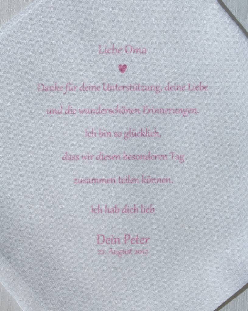 Nadelspitze Taschentuch für Oma - Erinnerungen