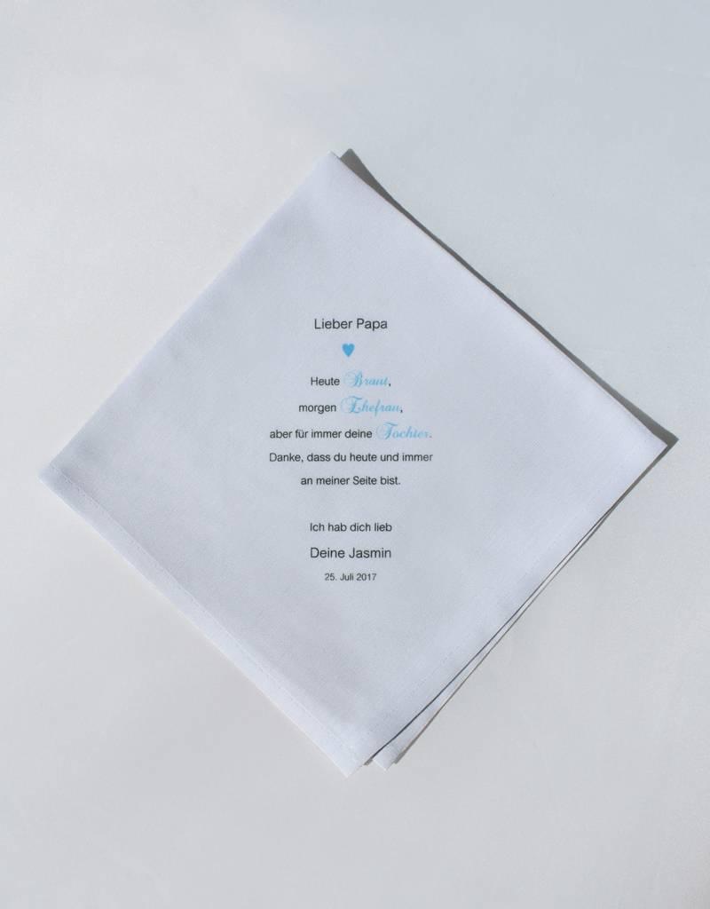 Nadelspitze Taschentuch für Papa - Heute und Immer