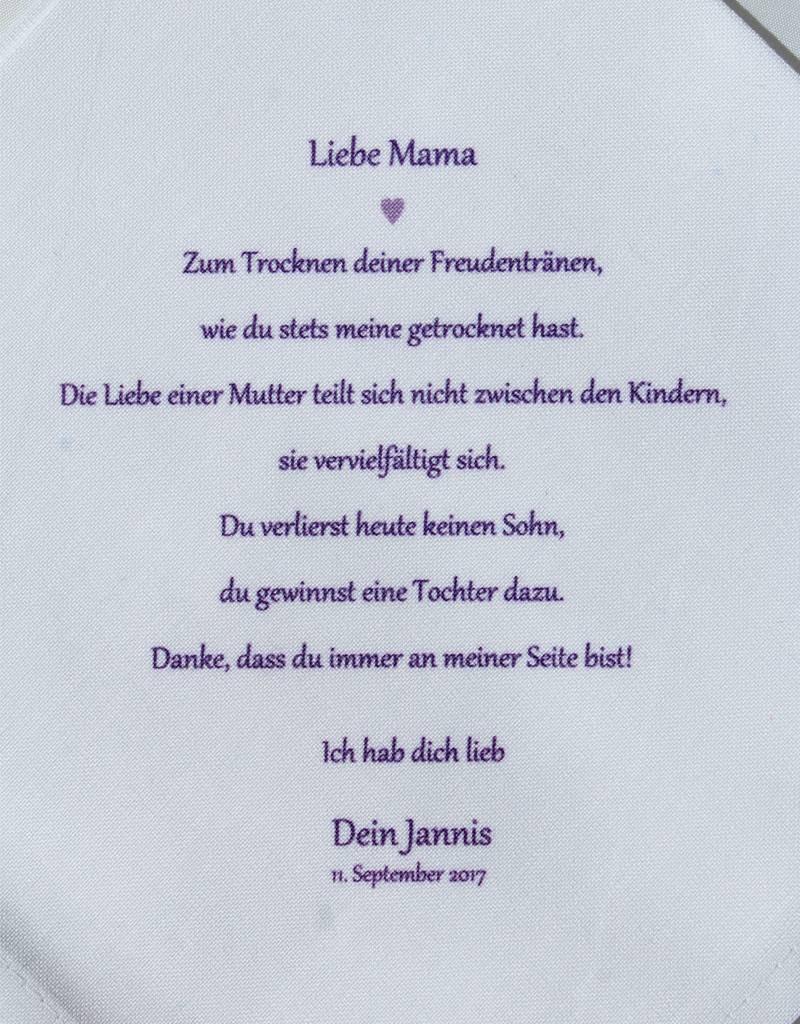 Nadelspitze Taschentuch für Mama - Liebe vervielfältigt sich