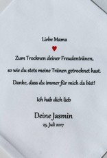 Nadelspitze Taschentuch für Mama - Freudentränen