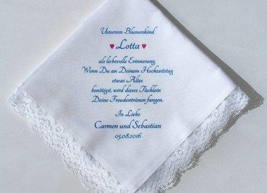 Taschentuch mit eigenem Text
