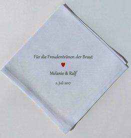 Nadelspitze Taschentuch für die Braut