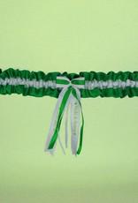Nadelspitze Satin Grün/Weiß