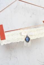 Nadelspitze Strumpfband Blue Diamond